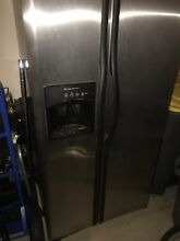 Frigidaire FRS26H5AS French Door Stainless Steel Refrigerator W  Ice Dispenser