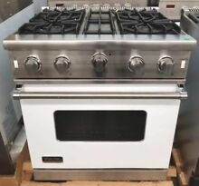 REFURBISHED VIKING WHITE 30 INCH PRO STYLE OPEN BURNER RANGE