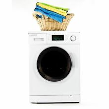1 6 cu  ft  Compact Combo Washer and Electric Dryer with Optional