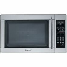 Magic Chef 1 3 Cu  Ft  1000W Countertop Microwave Oven in Stainless Steel