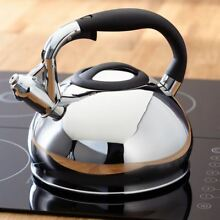 Stove Top Whistling Kettle Induction Large 3L Stainless Steel Electric Gas Judge