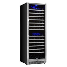 EdgeStar CWR1551DZ 23 W 155 Bottle Built In Wine Cooler with Dual Cooling Zones