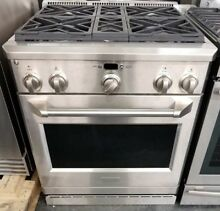GE MONOGRAM 30  PRO STYLE DUAL FUEL RANGE STAINLESS STEEL REFURBISHED