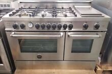 NEW OUT OF BOX BERTAZZONI MASTER SERIES 48  GAS RANGE STAINLESS STEEL