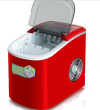 Red Plastic Kitchen Countertop Ice Makers Home Appliances 24 36 33CM