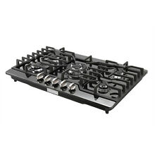 USA   30inch Titanium 5 Burner Built in Stoves LPG NG Gas Hob Cooking Cooktops