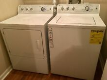 GE electric laundry washer and dryer set  white  great condition