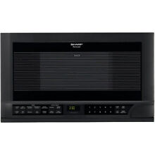 Sharp R1210T Black 24  Wide 1 5 Cu  Ft  Built in Microwave with Digital Display