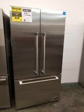 REFURBISHED BY DCS 36  FRENCH DOOR REFRIGERATOR STAINLESS STEEL PRO HANDLES