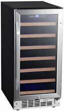 EdgeStar CWR302SZ 15 Inch Wide 30 Bottle Built In Single Zone Wine Cooler with R