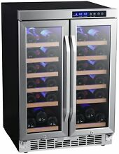 EdgeStar CWR362FD 24 Inch Wide 36 Bottle Built In Wine Cooler with Dual Cooling