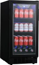 EdgeStar BBR901BL 15 Inch Wide 80 Can Built In Beverage Center with Slim Design