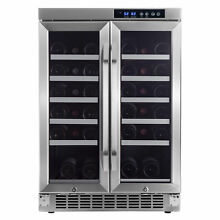 EdgeStar CWR361FD 24 W 36 Bottle Built In Wine Cooler with Dual Cooling Zones