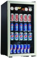Danby 128 Can Beverage Center   Black   Stainless Steel   Mini Fridge
