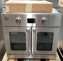 BLUESTAR 30  SINGLE FRENCH DOOR CONVECTION OVEN  REFURBISHED STAINLESS