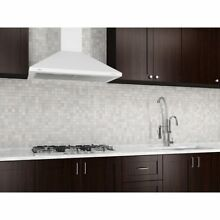 Ancona 30 in  Wall Mounted Range Hood Pyramid Style in White