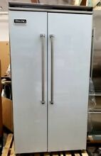 VIKING 42 INCH WHITE COLORED BUILT IN REFRIGERATOR FREEZER REFURBISHED