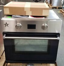BLUE STAR 30  SINGLE ELECTRIC WALL OVEN IN BLACK WITH DROP DOWN DOOR