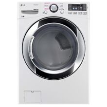 LG 7 4 Cu Ft  White Ultra Large Capacity Gas Dryer DLGX3371W