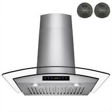 Akdy 30  Convertible Wall Mount Kitchen Range Hood Stainless Tempered Glass