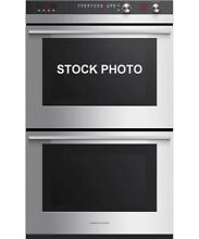 NEW OUT OF BOX FISHER PAYKEL 30  DOUBLE ELECTRIC WALL OVENS STAINLESS STEEL