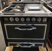 NEW OUT OF BOX VIKING TUSCANY 36  DUAL FUEL RANGE 2 BURNERS ELECTRIC GRIDDLE