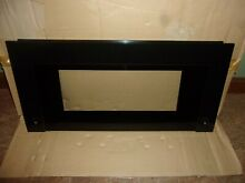 NEW OEM GE MICROWAVE GLASS DOOR FRAME ASSEMBLY BLACK WB36X10316