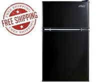 Arctic King 3 2 Cu Ft Two Door Mini Fridge with Freezer  Black