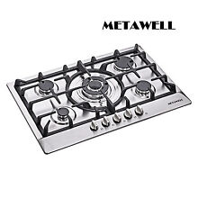 USA 30 inch Silver Stainless Steel Built in Kitchen 5 Burner Gas Hob Cook Tops