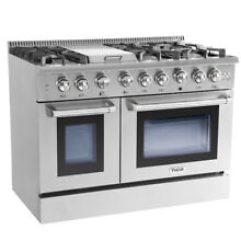 Thor Gas Range 48  Double Oven Stainless Steel Griddle 6 Burner Updates