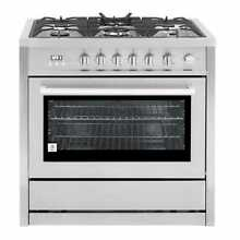 Cosmo 36 inch Free Standing 5 Burner Convection Gas Range