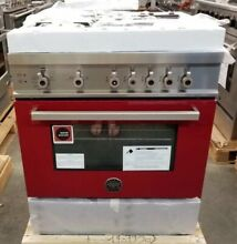 NEW OUT OF BOX BERTAZZONI 4 BURNER 30  PRO RANGE RED WINE COLOR LAST YEARS MODEL