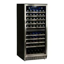 EdgeStar CWR1101DZ 23 W 110 Bottle Built In Wine Cooler with Dual Cooling Zones