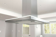 Zephyr ZLC E42BS 600 CFM 42 Inch Wide Island Range Hood with ACT Technology and