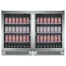 Avallon ABR241SGDUAL Built In 48in Wide 304 Can Capacity Beverage Center
