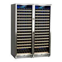 EdgeStar CWR1661SZDUAL Stainless Steel 47  Wide 332 Bottle Built In Wine Cooler