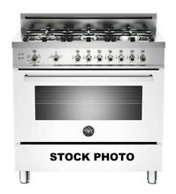NEW OUT OF BOX BERTAZZONI PROFESSIONAL SERIES 36  ALL GAS RANGE IN WHITE