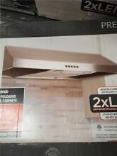 Presenza 30  Under Cabinet Range Hood Stainless Steel w  LED Light QR045 USED