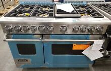 VIKING 7 SERIES DUAL FUEL GAS RANGE 48  STAINLESS STEEL 6 BURNERS