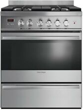 NEW IN BOX FISHER PAYKEL 30  GAS RANGE STAINLESS STEEL W FACTORY WARRANTY