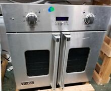 VIKING FRENCH DOOR SINGLE WALL OVEN 30  STAINLESS STEEL REFURBISHED