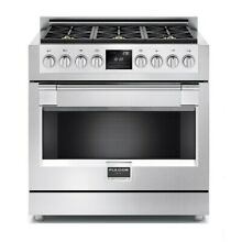 Fulgor Milano F6PDF366 36 Inch Wide 4 9 Cu  Ft  Dual Fuel Range with 6 Dual Flam