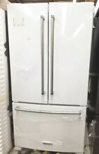 NEW OUT OF BOX KITCHENAID 36  COUNTER DEPTH FRENCH DOOR REFRIGERATOR WHITE