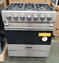 VIKING 30  DUAL FUEL RANGE 5 BURNER STAINLESS STEEL NICELY REFURBISHED