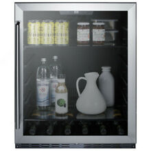 Summit AL57GCSS 24 Inch ADA Built In Undercounter Glass Door Beverage Center