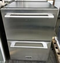 THOR KITCHEN 24  UNDERCOUNTER REFRIGERATOR DRAWERS STAINLESS STEEL