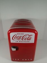 Coca Cola Mini Fridge Cooler Warmer Personal Fridge Koolatron Model KWC 4U Used