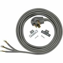 Dryer Power Cord 3 Prong Wire 30 Amp 5  Foot 10 3 Gauge Wire Heavy Duty