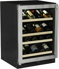 Marvel ML24WS1L  24  Wide 27 Bottle Built In Single Zone Wine Cooler with LED