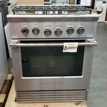 OUT OF BOX FISHER PAYKEL 30  4 BURNER GAS RANGE CONVECTION STAINLESS STEEL